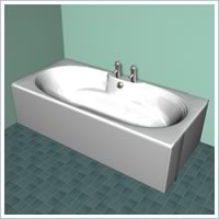 Double Ended Bath 2 Tap Hole