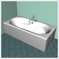 Double Ended Bath 3 Tap Hole