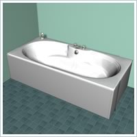 Double Ended Bath 4 Tap Hole